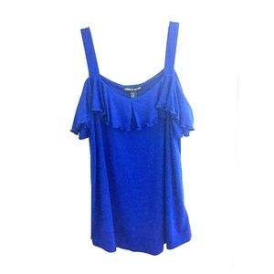 NWT cable and gauge cold shoulder tank top. Small